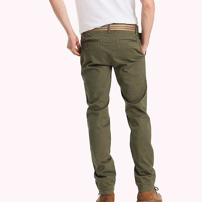 TOMMY JEANS Cotton Stretch Slim Fit Trousers - AMBER GOLD - TOMMY JEANS Clothing - detail image 1