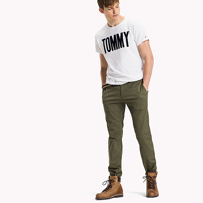 TOMMY JEANS Cotton Stretch Slim Fit Trousers - AMBER GOLD - TOMMY JEANS Clothing - detail image 3