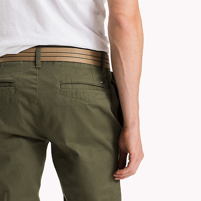 TOMMY JEANS Cotton Stretch Slim Fit Trousers - AMBER GOLD - TOMMY JEANS Clothing - detail image 4