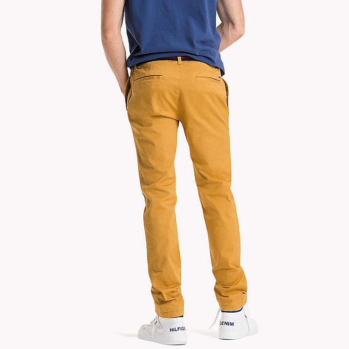 TOMMY JEANS Cotton Stretch Slim Fit Trousers - TRUE NAVY - TOMMY JEANS Clothing - detail image 1