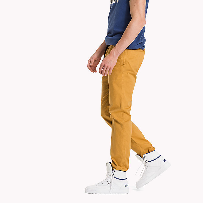 TOMMY JEANS Cotton Stretch Slim Fit Trousers - TRUE NAVY - TOMMY JEANS Clothing - detail image 2