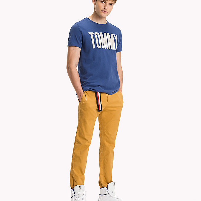 TOMMY JEANS Cotton Stretch Slim Fit Trousers - TRUE NAVY - TOMMY JEANS Clothing - detail image 4