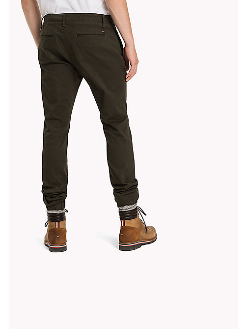 TOMMY JEANS Tapered Fit Hose aus Baumwolle - FOREST NIGHT - TOMMY JEANS Hosen - main image 1