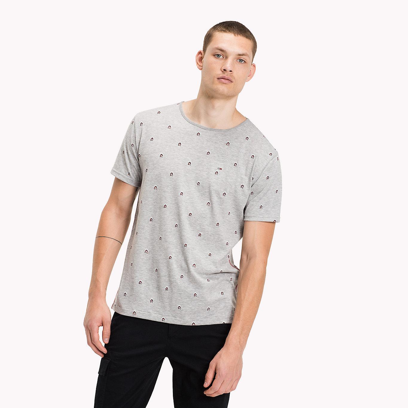 Rundhals-T-Shirt aus Baumwoll-Jersey