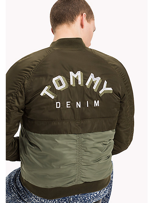TOMMY JEANS Satin Reversible Bomber - FOREST NIGHT / PHOTO PRINT - TOMMY JEANS Coats & Jackets - detail image 1