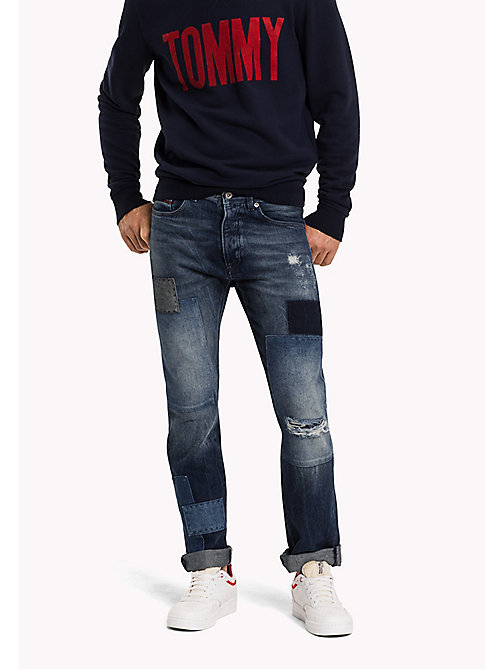 TOMMY JEANS Slim Straight Fit jeans - INDIGO PATCHWORK RIGID - TOMMY JEANS Jeans - main image