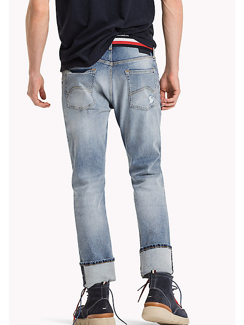 TOMMY JEANS Slim Fit Jeans - INDIGO TARTAN DESTRUCTED - TOMMY JEANS Jeans - detail image 1