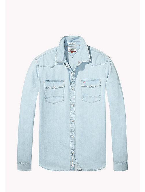 TOMMY JEANS Denim Regular Fit Shirt - LIGHT INDIGO - TOMMY JEANS Shirts - detail image 1