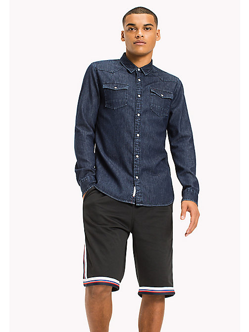 TOMMY JEANS Denim Regular Fit Shirt - DARK INDIGO - TOMMY JEANS MEN - main image