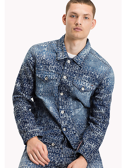 TOMMY JEANS Jacquard Denim Trucker - TOMMY JACQUARD DENIM - TOMMY JEANS Coats & Jackets - main image