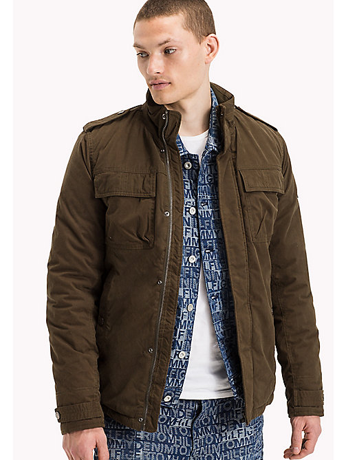 TOMMY JEANS Nylon Cotton Blend Field Jacket - FOREST NIGHT? - TOMMY JEANS Coats & Jackets - main image