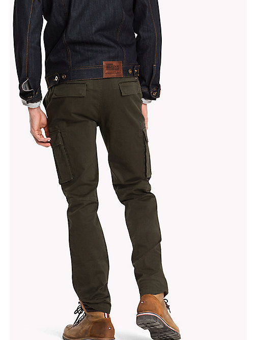 TOMMY JEANS Straight Fit Hose aus Baumwolle - FOREST NIGHT - TOMMY JEANS Hosen - main image 1
