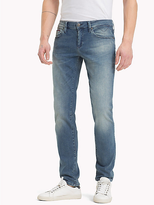 TOMMY JEANS Slim Fit Jeans - PINE LIGHT BLUE STRETCH DESTRUCTED - TOMMY JEANS Jeans - main image