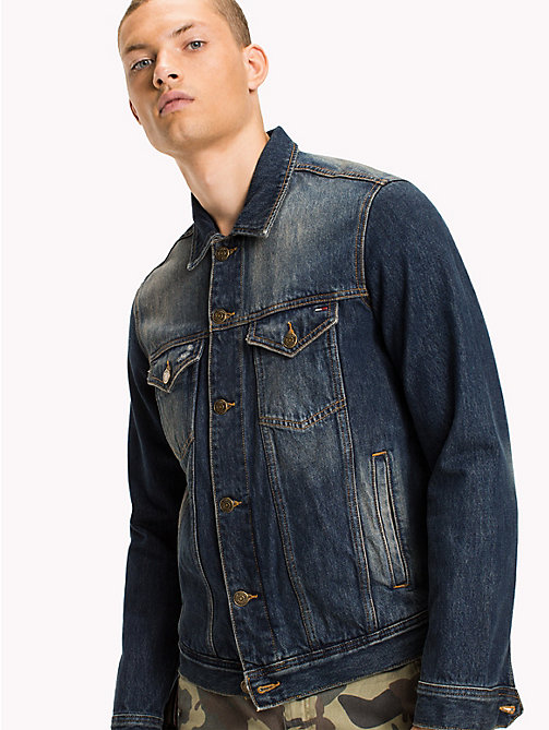 TOMMY JEANS Classic Denim Trucker - CHESTNUT MID BLUE RIGID DESTRUCTED - TOMMY JEANS Coats & Jackets - main image