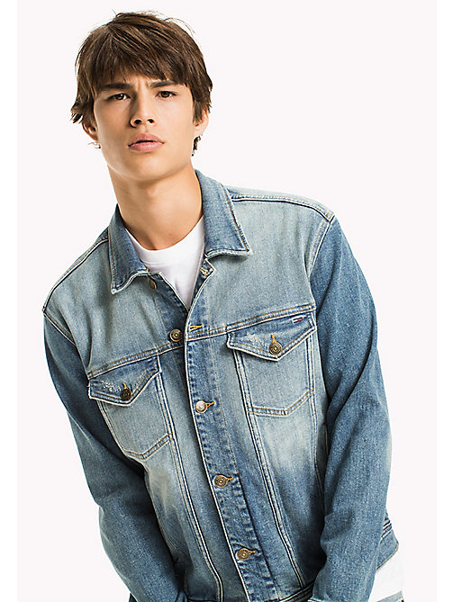 TOMMY JEANS Veste Trucker classique en denim - ILLINOIS LIGHT BLUE STRETCH - TOMMY JEANS Manteaux & Vestes - image principale