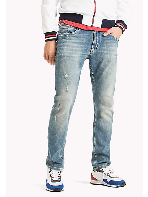 TOMMY JEANS Faded Tapered Fit Jeans - ILLINOIS LIGHT BLUE STRETCH - TOMMY JEANS Tapered Jeans - main image