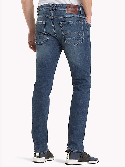 TOMMY JEANS Tapered Fit Jeans - ILLINOIS MID BLUE STRETCH DESTRUCTED - TOMMY JEANS Men - detail image 1
