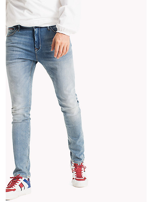 TOMMY JEANS Tapered Slim Fit Jeans - SPRINGFIELD LIGHT BLUE STRETCH - TOMMY JEANS TOMMY JEANS MEN - main image