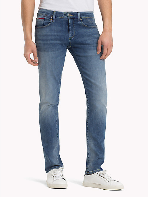 TOMMY JEANS Slim Fit Jeans - SPRINGFIELD MID BLUE STRETCH - TOMMY JEANS TOMMY JEANS MEN - main image