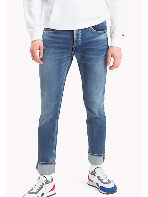 TOMMY JEANS Tapered Fit Jeans - RIVER MID BLUE COMFORT - TOMMY JEANS Tapered Jeans - main image