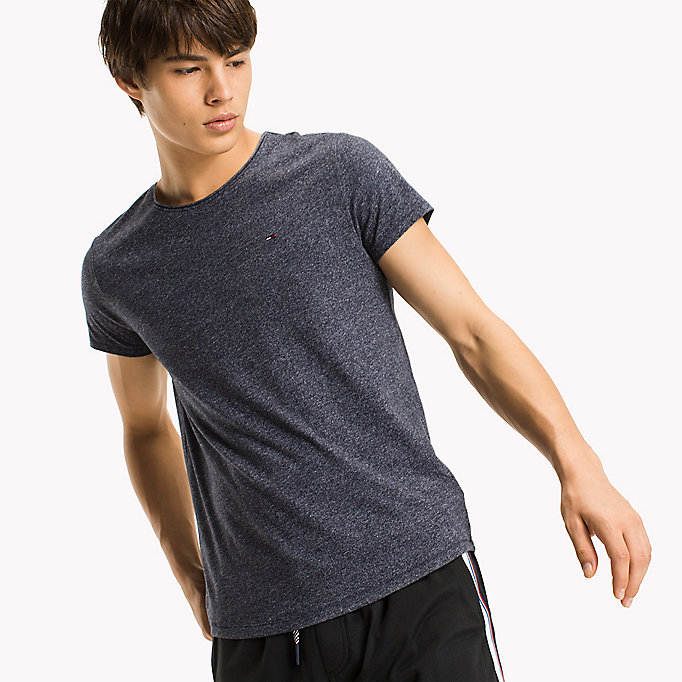 TOMMY JEANS Slim Fit T-Shirt - TOMMY BLACK - TOMMY JEANS Kleidung - main image