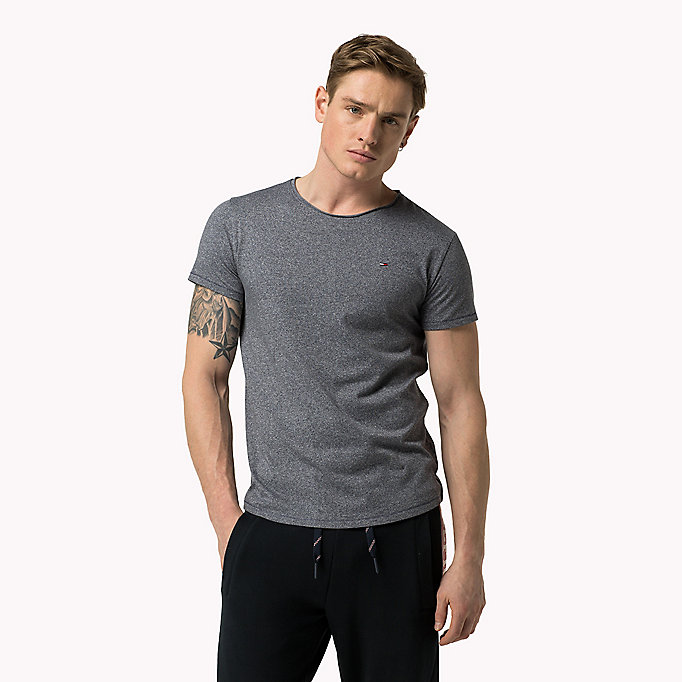 TOMMY JEANS Slim fit T-shirt - THYME - TOMMY JEANS Heren - main image