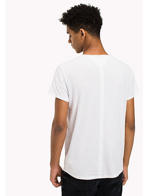 TOMMY JEANS Slim Fit T-Shirt - CLASSIC WHITE - TOMMY JEANS TOMMY JEANS MEN - detail image 1