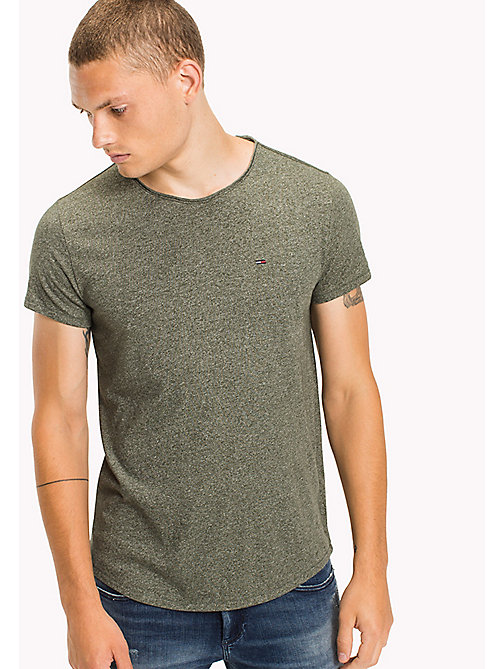 TOMMY JEANS T-shirt coupe slim - THYME -  HOMMES - image principale