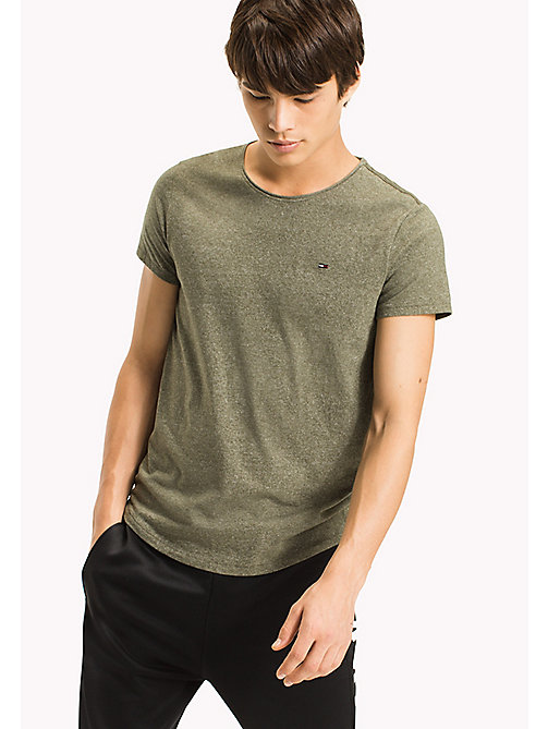 TOMMY JEANS Slim Fit T-Shirt - DEEP LICHEN - TOMMY JEANS MEN - main image