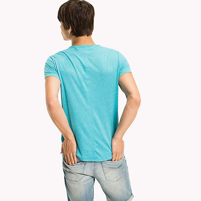 TOMMY JEANS Slim Fit T-Shirt - BLUE HORIZON - TOMMY JEANS Men - detail image 1