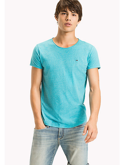 TOMMY JEANS Slim Fit T-Shirt - MAUI BLUE - TOMMY JEANS MEN - main image