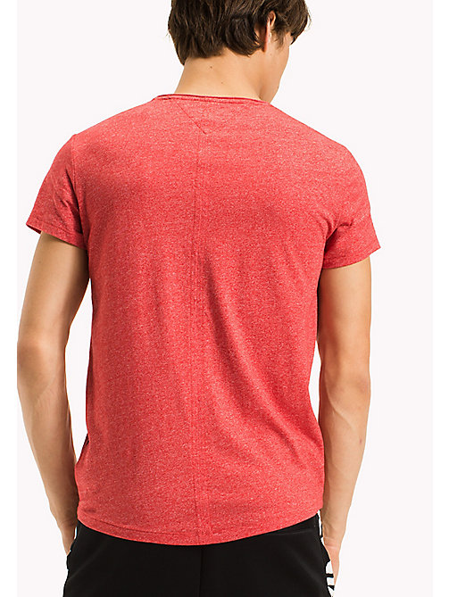 TOMMY JEANS Slim Fit T-Shirt - RACING RED - TOMMY JEANS MEN - detail image 1