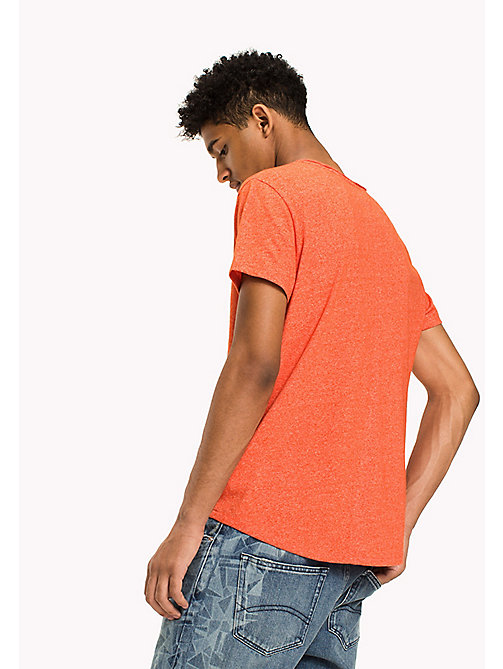 TOMMY JEANS Slim Fit T-Shirt - SPICY ORANGE - TOMMY JEANS T-Shirts & Polos - detail image 1