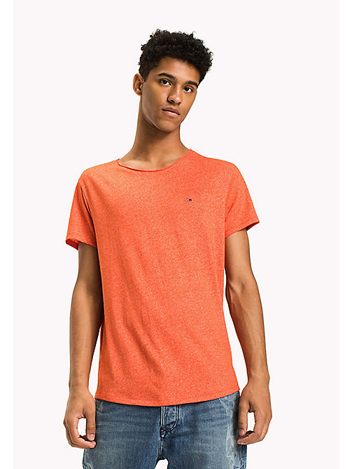 TOMMY JEANS T-shirt slim fit - SPICY ORANGE - TOMMY JEANS T-Shirts & Polos - immagine principale