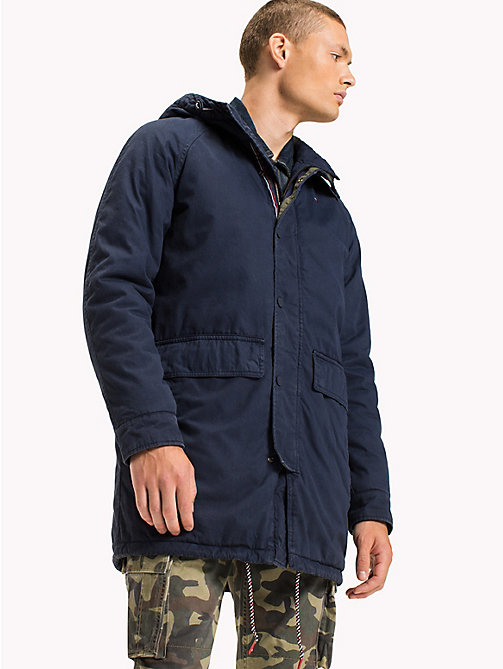 TOMMY JEANS Washed Cotton Parka - BLACK IRIS - TOMMY JEANS Coats & Jackets - main image