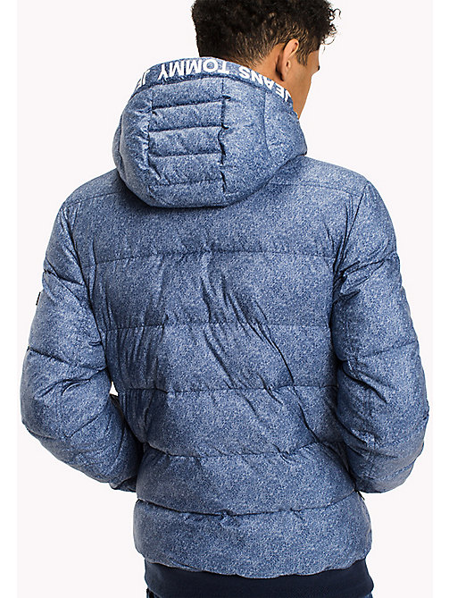 TOMMY JEANS Denim Printed Down Jacket - LT INDIGO PRINT - TOMMY JEANS Coats & Jackets - detail image 1