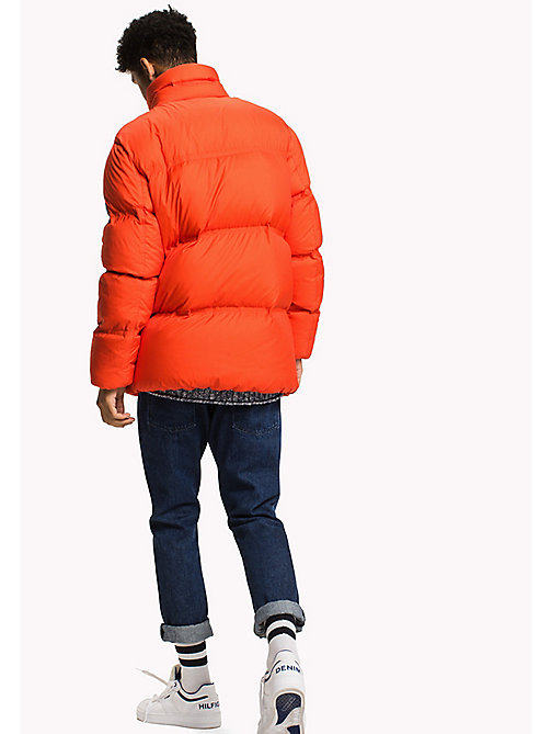 TOMMY JEANS Nylon Down Jacket - SPICY ORANGE - TOMMY JEANS Coats & Jackets - detail image 1