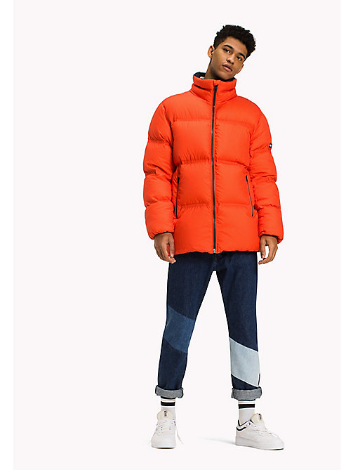TOMMY JEANS Nylon Down Jacket - SPICY ORANGE - TOMMY JEANS Coats & Jackets - main image