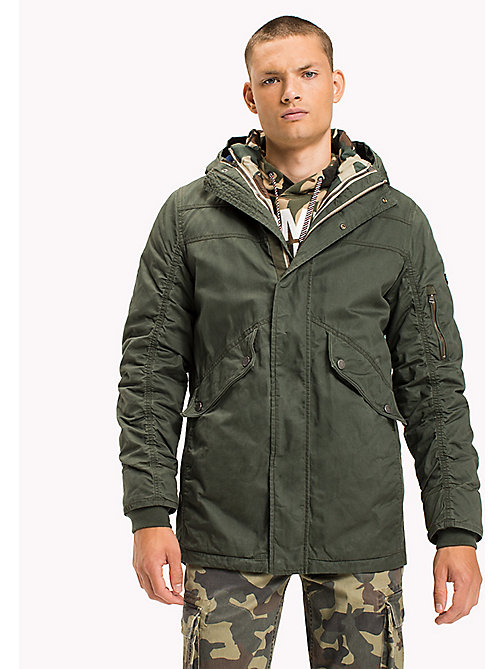 TOMMY JEANS Utility-Parka aus Baumwolle - THYME - TOMMY JEANS Mäntel & Jacken - main image