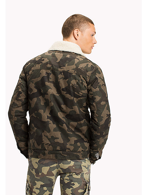 TOMMY JEANS Cotton Twill Sherpa Jacket - CAMO PRINT - TOMMY JEANS Coats & Jackets - detail image 1