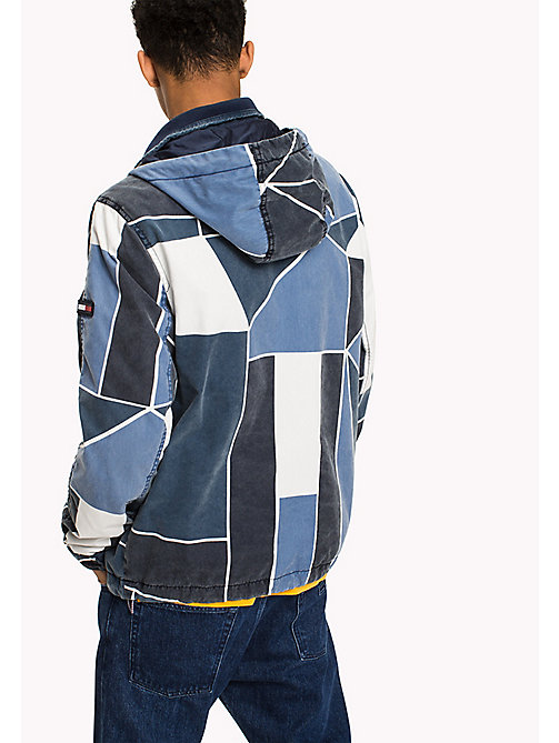 TOMMY JEANS Cotton Denim Look Jacket - ABSTRACT FLAG PRINT - TOMMY JEANS Coats & Jackets - detail image 1