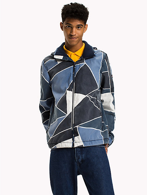 TOMMY JEANS Cotton Denim Look Jacket - ABSTRACT FLAG PRINT - TOMMY JEANS Coats & Jackets - main image