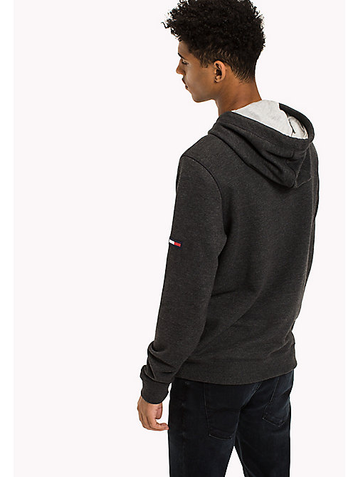 TOMMY JEANS Fleece Half Zip Hoodie - TOMMY BLACK - TOMMY JEANS Sweatshirts & Hoodies - detail image 1