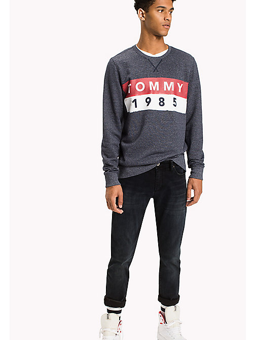 TOMMY JEANS French Terry Sweatshirt - BLACK IRIS - TOMMY JEANS Hoodies & Sweatshirts - main image