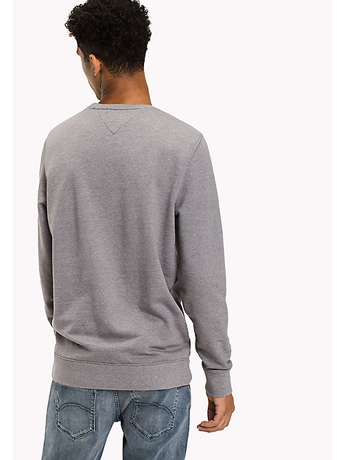 TOMMY JEANS French Terry Sweatshirt - LT GREY HTR - TOMMY JEANS Hoodies & Sweatshirts - detail image 1