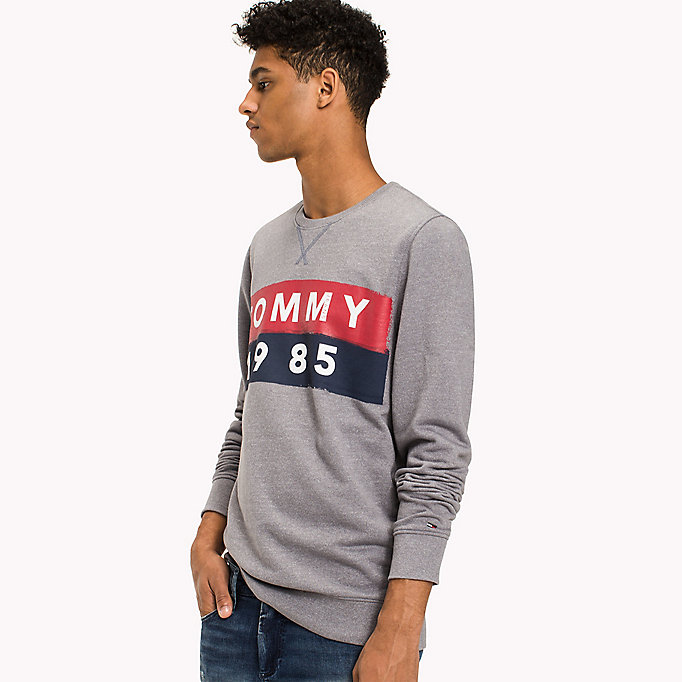 TOMMY JEANS French Terry Sweatshirt - INDIGO BUNTING - TOMMY JEANS Men - main image
