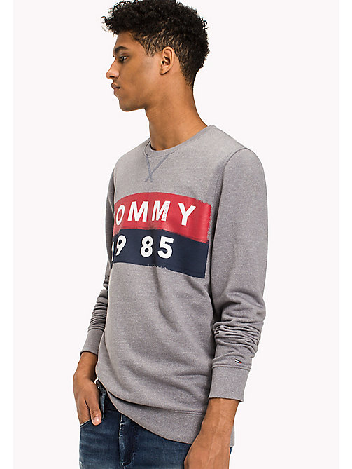 TOMMY JEANS French Terry Sweatshirt - LT GREY HTR - TOMMY JEANS Sweatshirts & Hoodies - main image