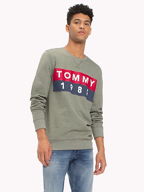 TOMMY JEANS French Terry Sweatshirt - THYME - TOMMY JEANS Sweatshirts & Hoodies - main image