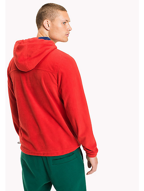TOMMY JEANS Polar fleece hoodie met rits - RACING RED - TOMMY JEANS Sweatshirts & Hoodies - detail image 1