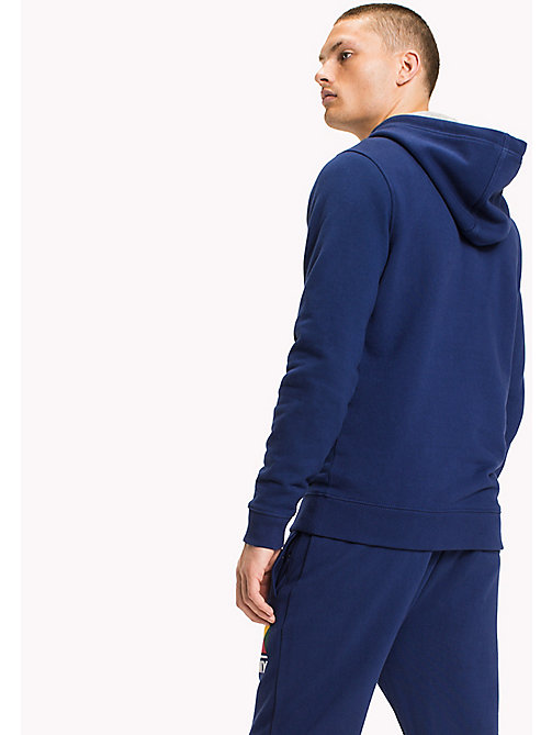 TOMMY JEANS Terry Logo Hoodie - BLUE DEPTHS - TOMMY JEANS MEN - detail image 1